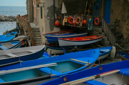 The Fishing Boats of Riomaggiore, Cinque Terre, Italy