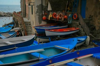 The Fishing Boats of Riomaggiore, Cinque Terre, Italy