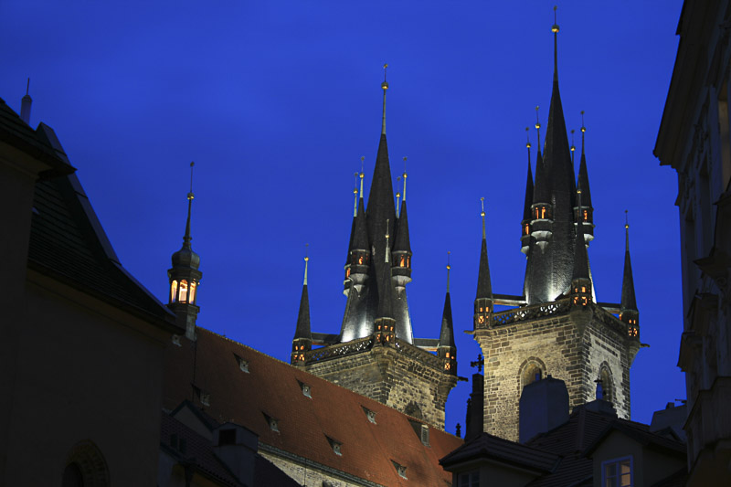 Behind Týnská at Dusk, Prague