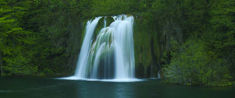 Green Pool Waterfall, Plitvice Lakes National Park, Croatia