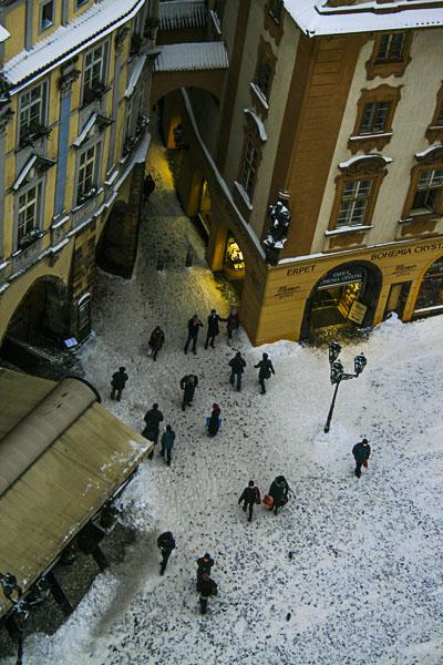 Winter from Top of the Old Clock Tower, Old Town Square (Staroměstské Naměsti), Prague