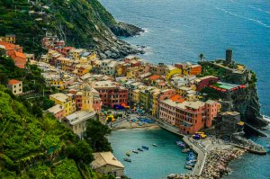 Vernazza from the Trail Above, Cinque Terre, Italy