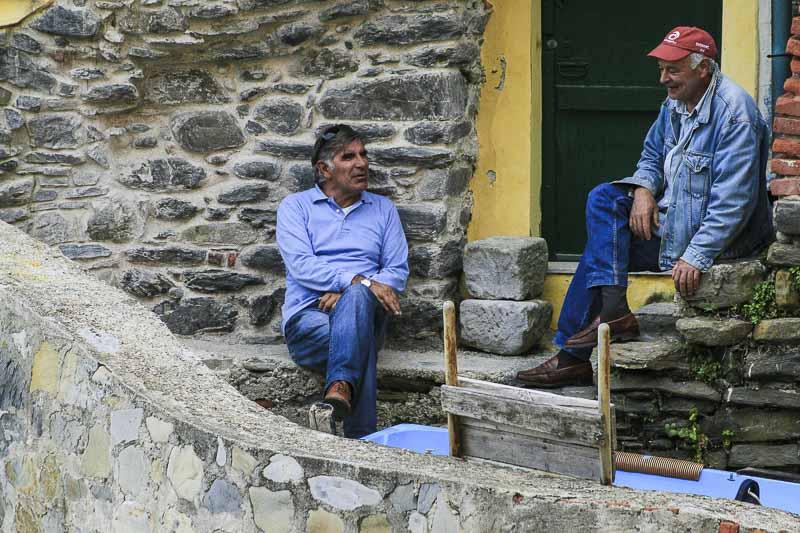 Fishermen of Riomaggiore, Cinque Terre, Italy