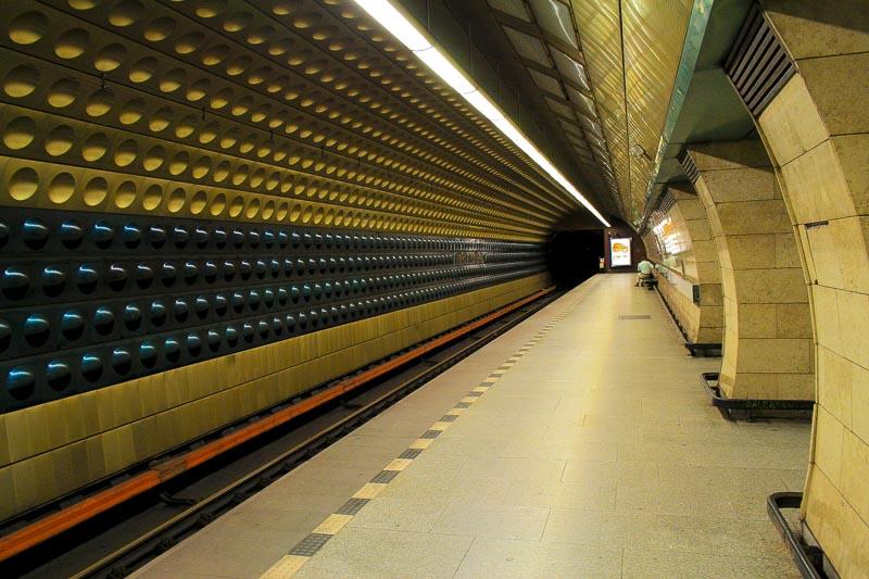 Jiřiho y Poděbrad Metro Station, Prague, Czech Republic