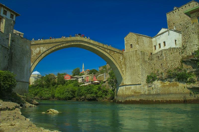Mostar's Ottoman Bridge, Mostar, Bosnia-Hercogovina