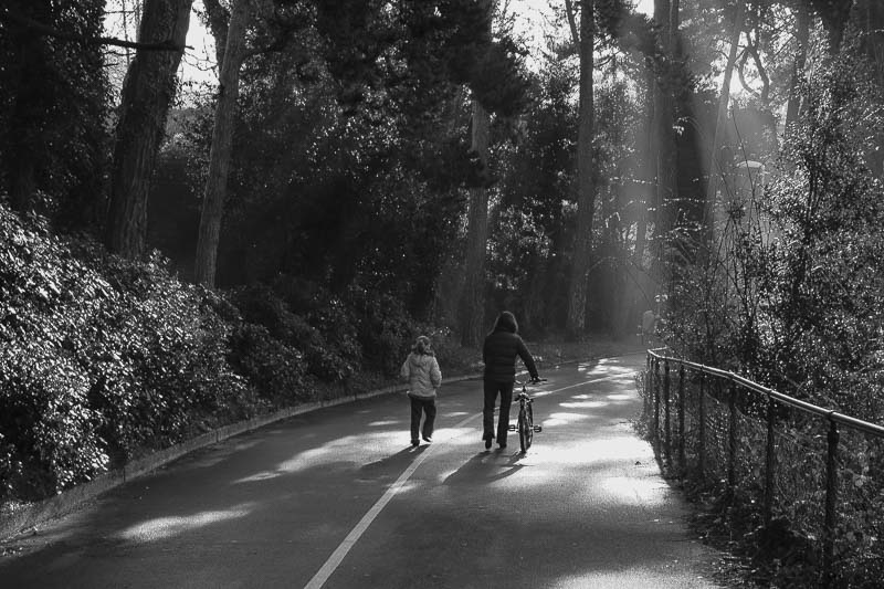 Mother and Daughter on a Morning Walk, Bournemouth, England