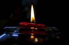Candle in a German Pub, Jonsdorf, Germany