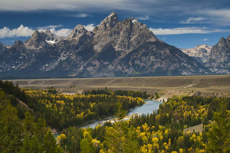 Tetons from Ansel Adam's Point, Grand Teton National Park, Wyoming