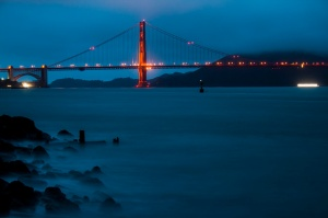 Golden Gate Bridge at Night, San Francisco, CA