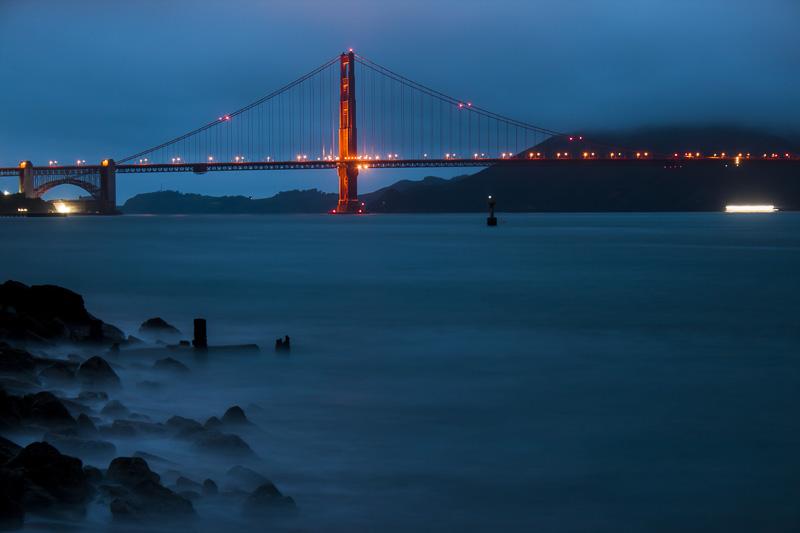 Golden Gate Bridge at Night, San Francisco, CA